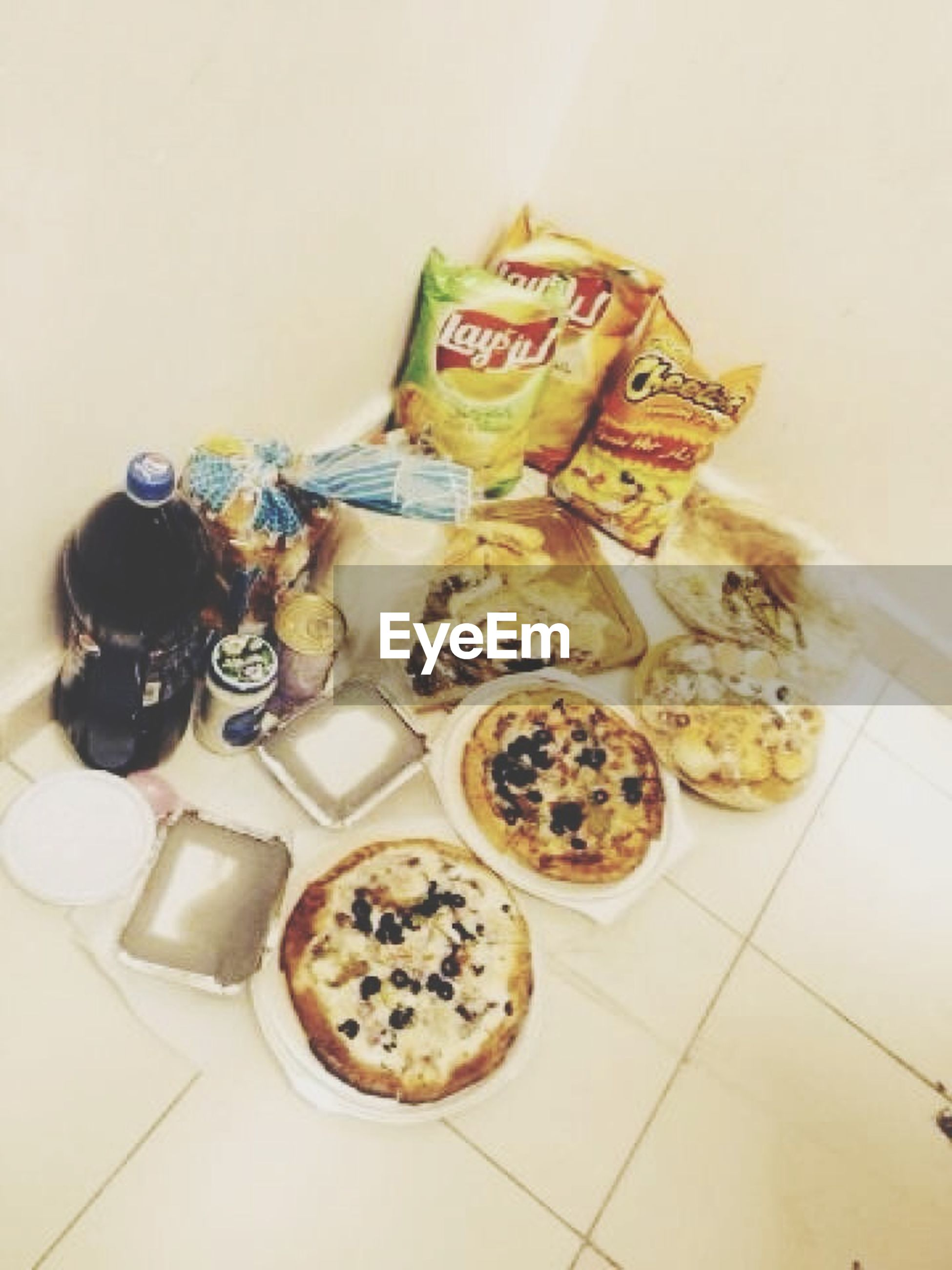 indoors, food and drink, food, table, high angle view, plate, still life, healthy eating, freshness, ready-to-eat, bowl, variation, no people, serving size, indulgence, meal, day, directly above, container, home interior