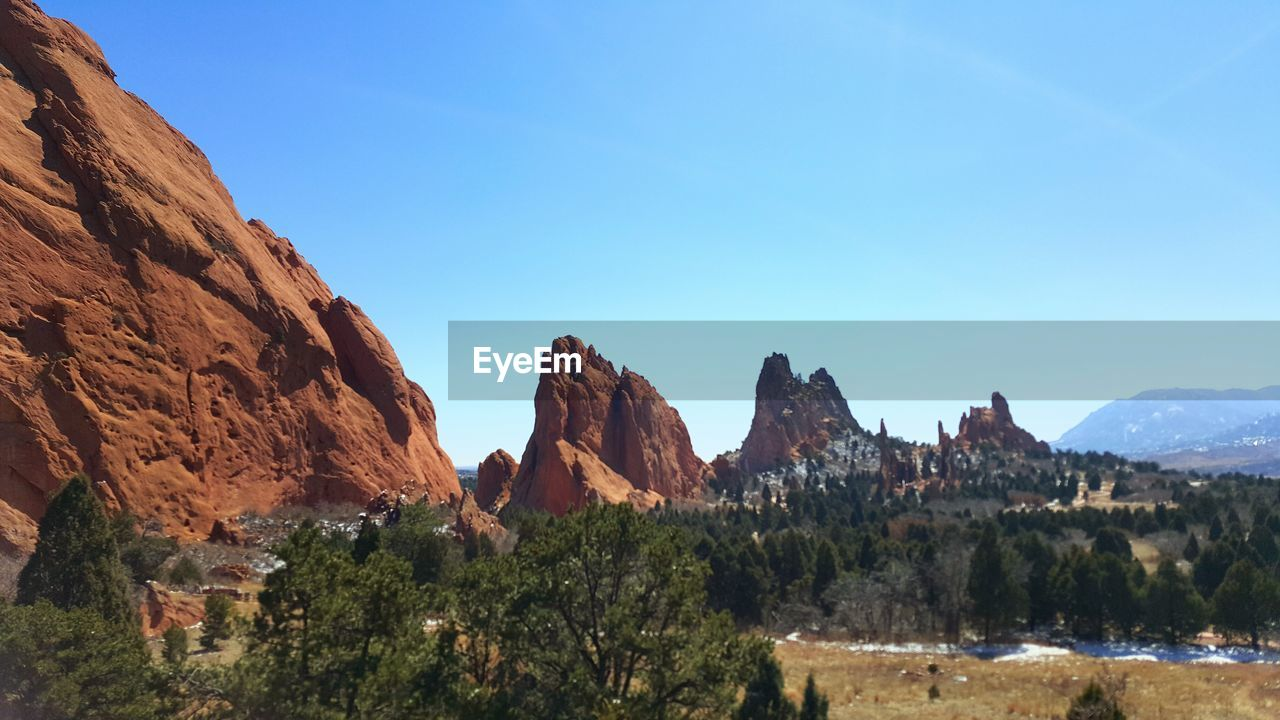Rock Formations And Trees At Garden Of The Gods