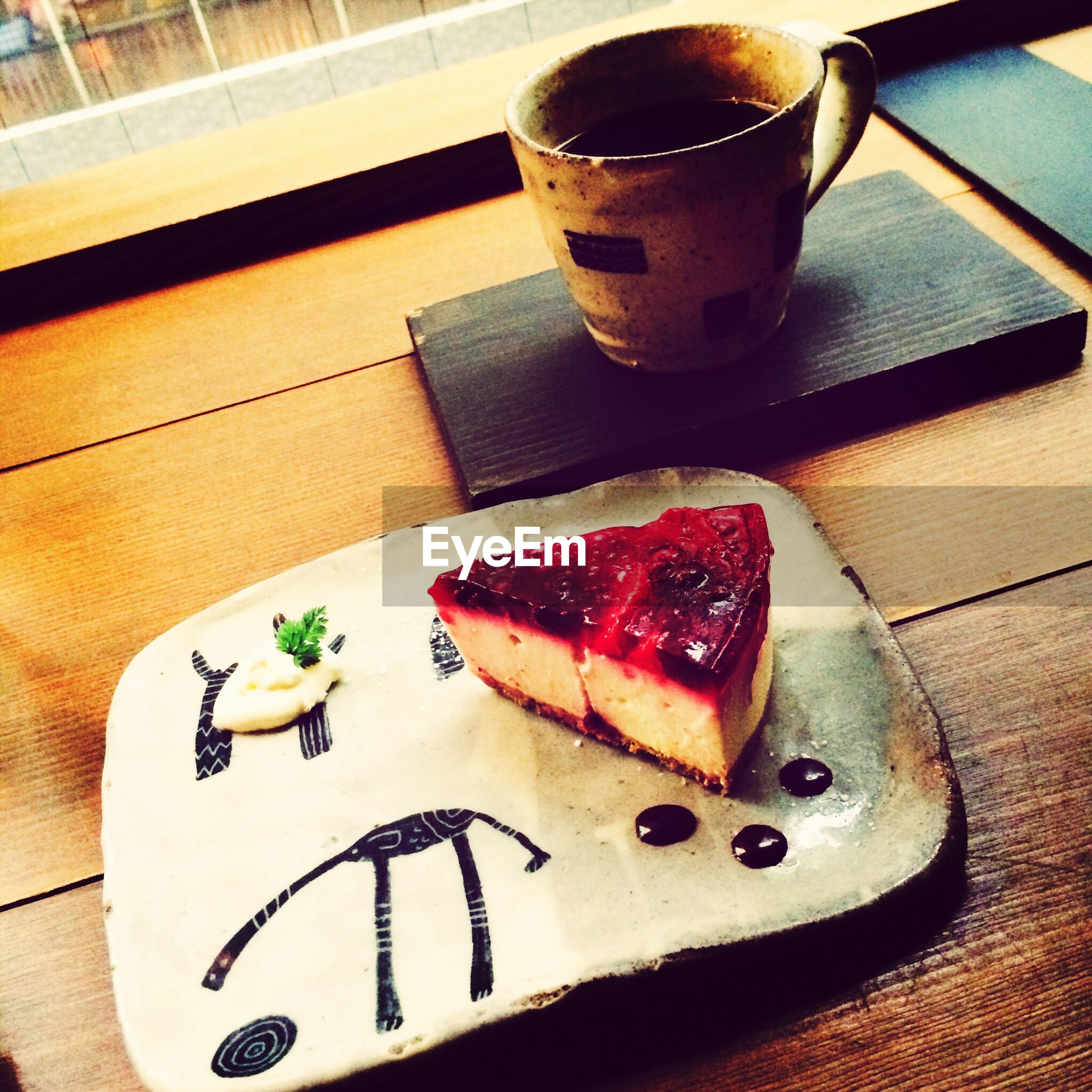 food and drink, food, freshness, indoors, table, ready-to-eat, sweet food, still life, drink, plate, indulgence, dessert, unhealthy eating, serving size, refreshment, strawberry, high angle view, fruit, cake