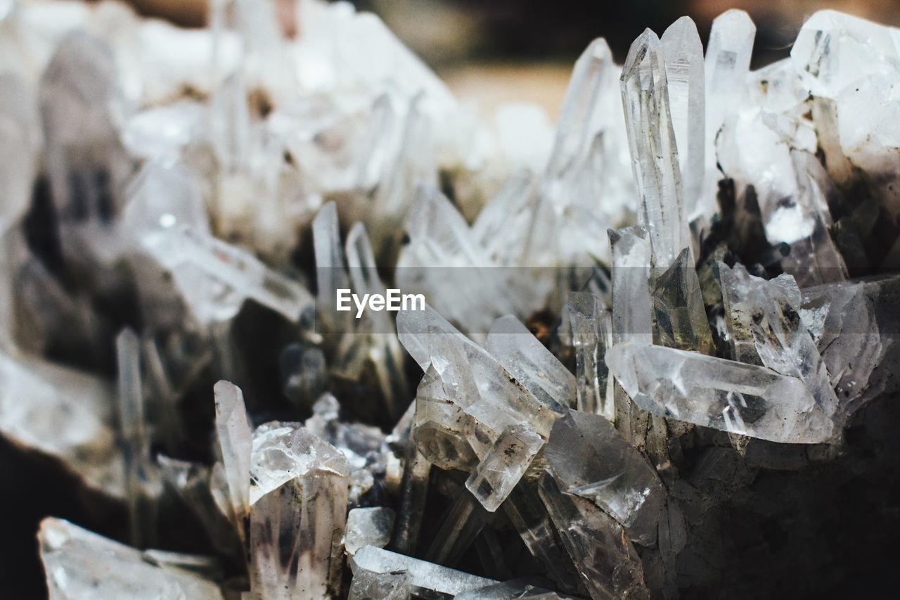 Close-Up Of Quartz Crystals