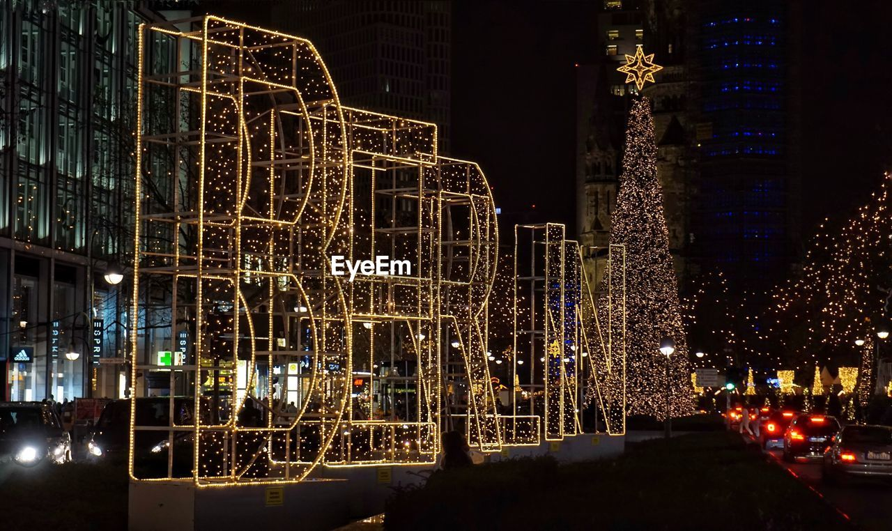 illuminated, night, architecture, built structure, building exterior, lighting equipment, decoration, city, no people, glowing, building, celebration, christmas, street, christmas lights, nature, outdoors, tree, christmas decoration, light - natural phenomenon, light, office building exterior, skyscraper