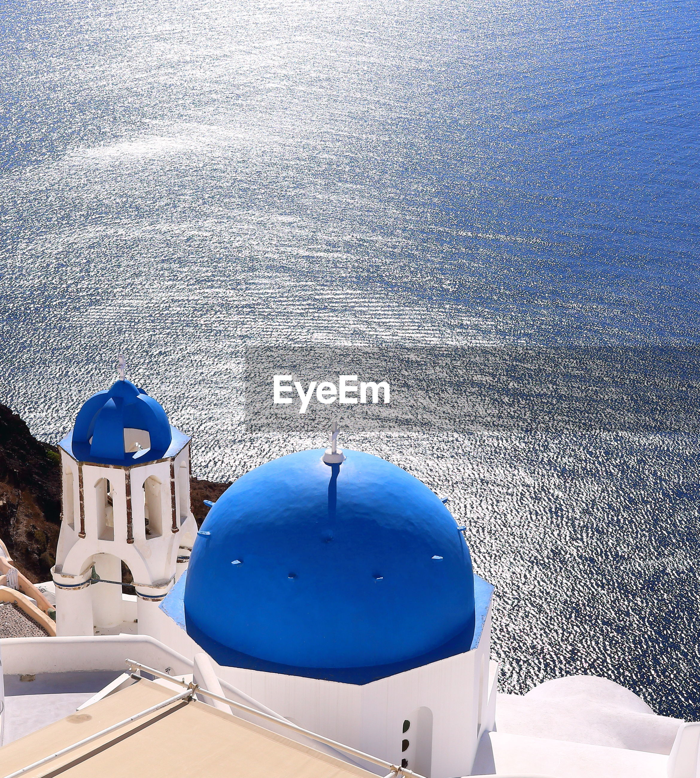 HIGH ANGLE VIEW OF BLUE SEA AGAINST SKY