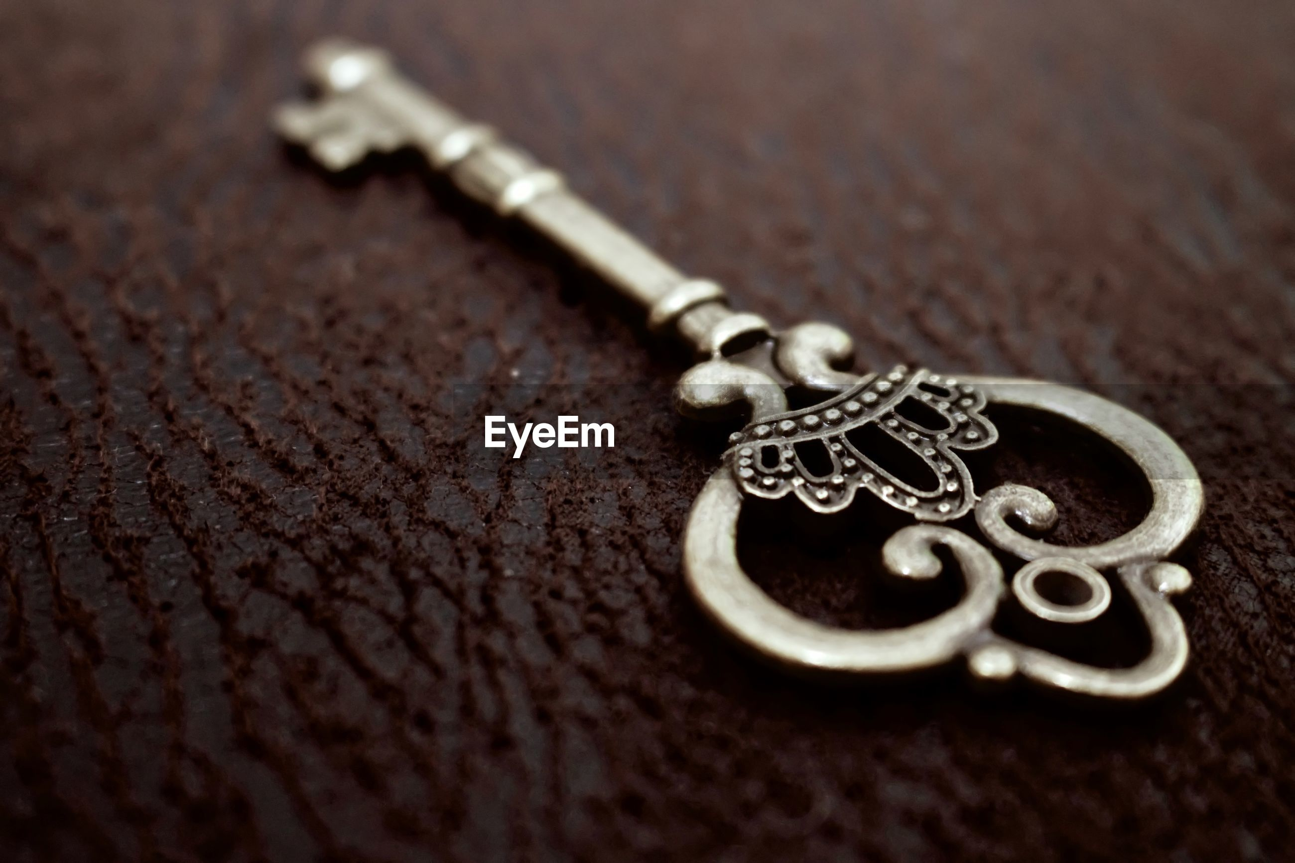 Close-up of key on table