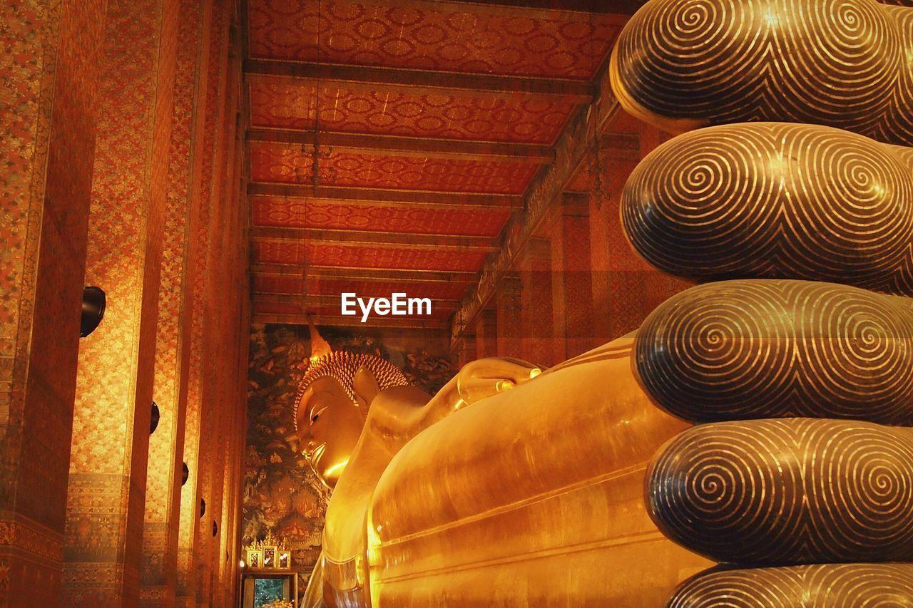 Lying Buddha Statue At Wat Pho Temple