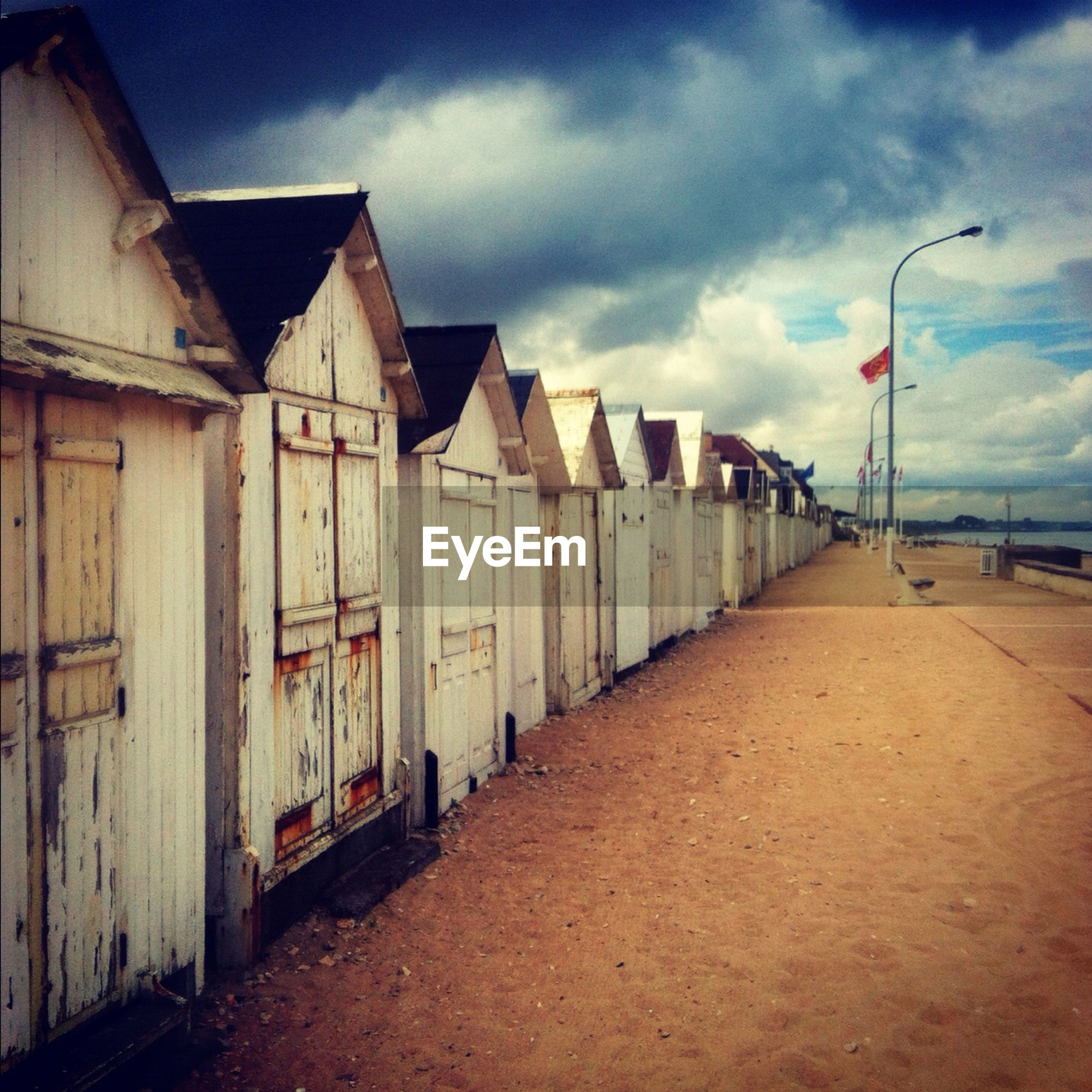 Old beach huts