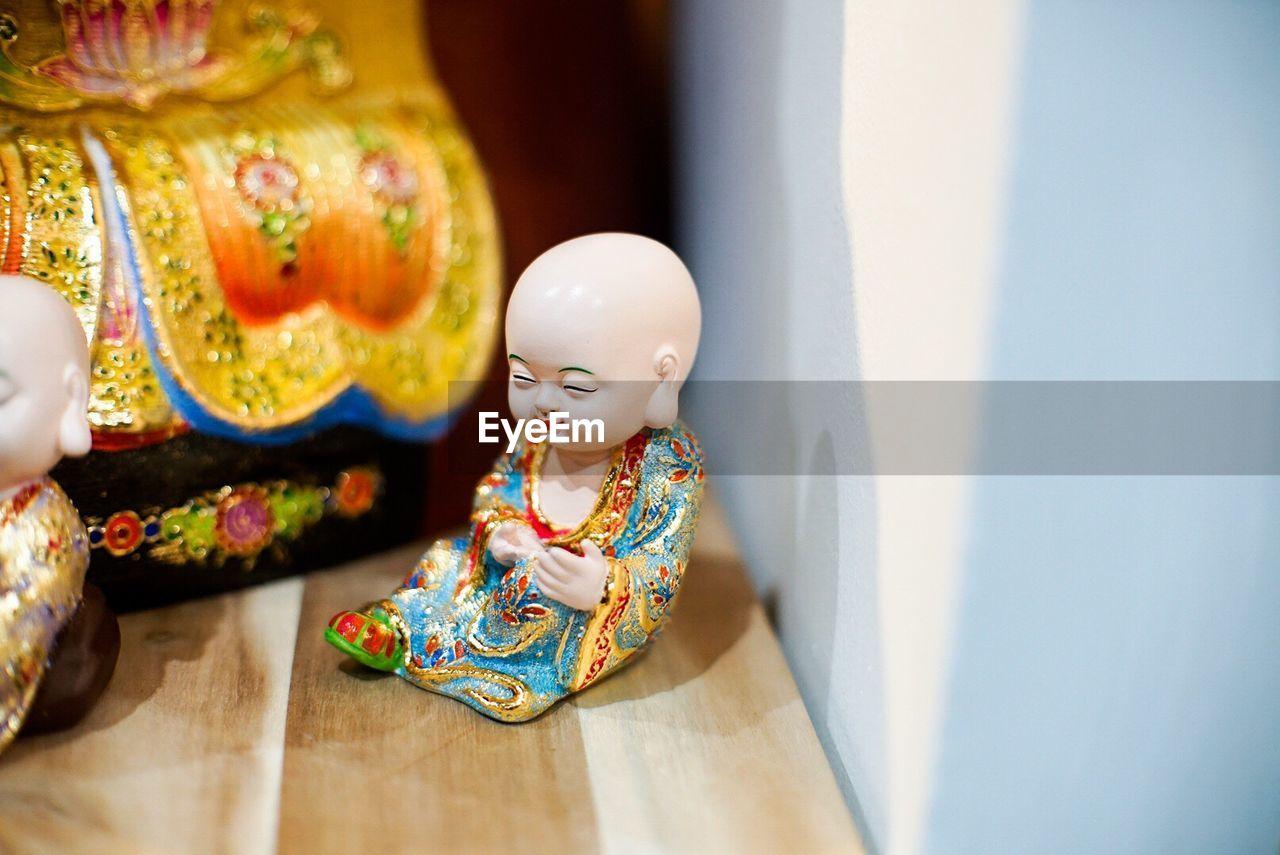 Close-up of buddha statues at setec