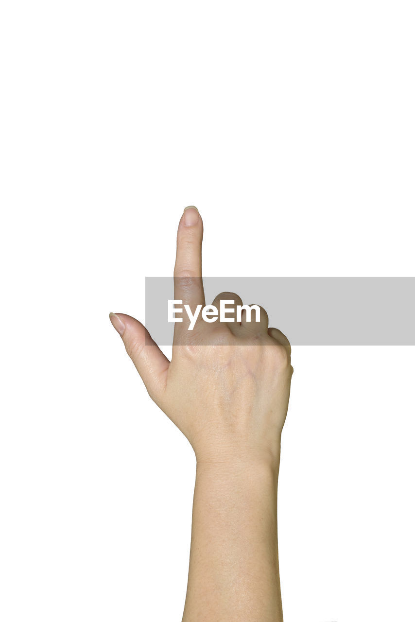 human hand, studio shot, hand, human body part, white background, body part, one person, indoors, copy space, human finger, finger, gesturing, unrecognizable person, close-up, cut out, personal perspective, fist, showing, hand sign, human limb