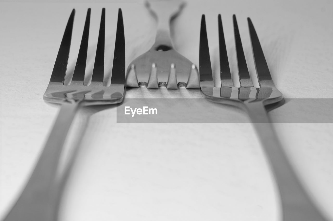 CLOSE-UP OF FORK ON PLATE