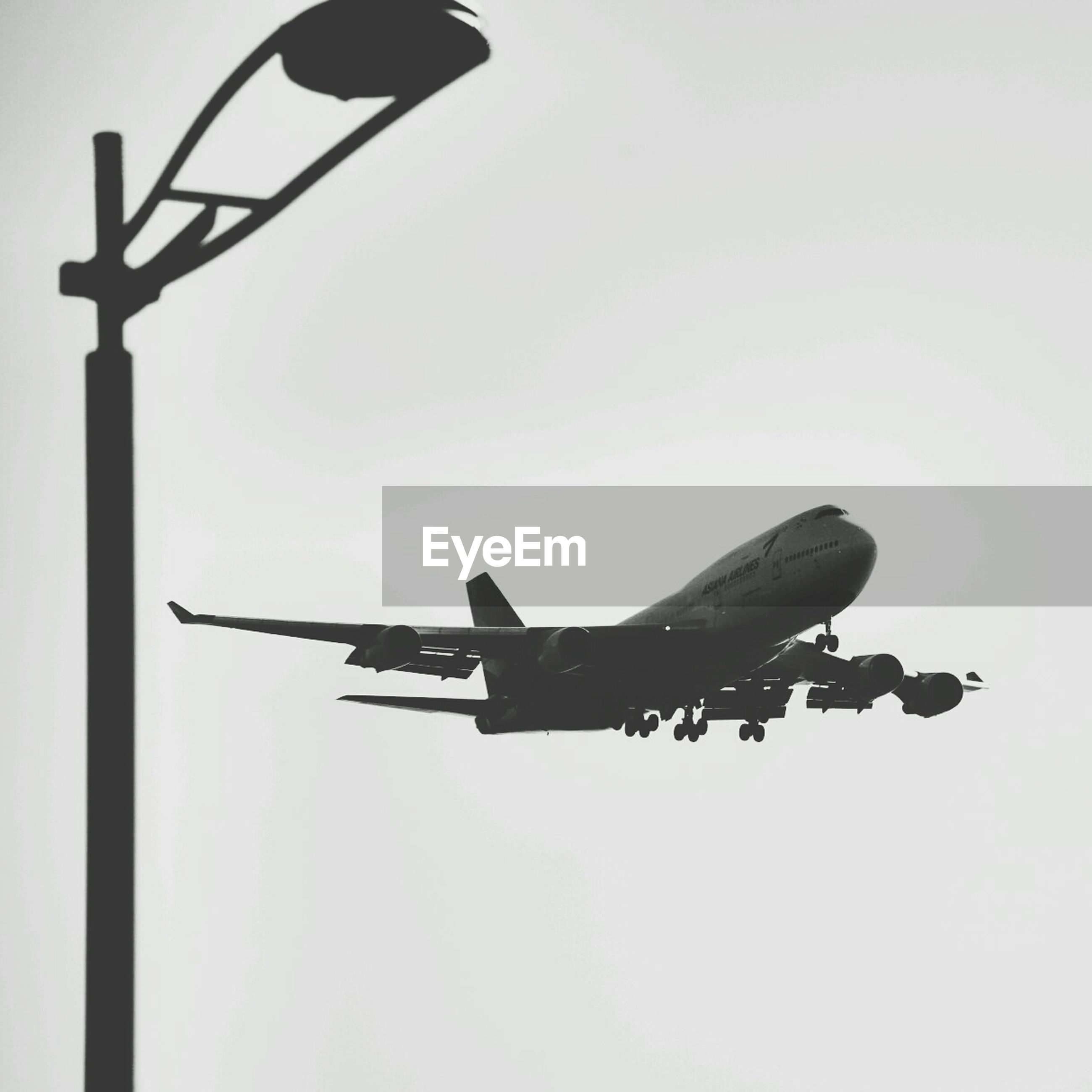 View of airplane in sky