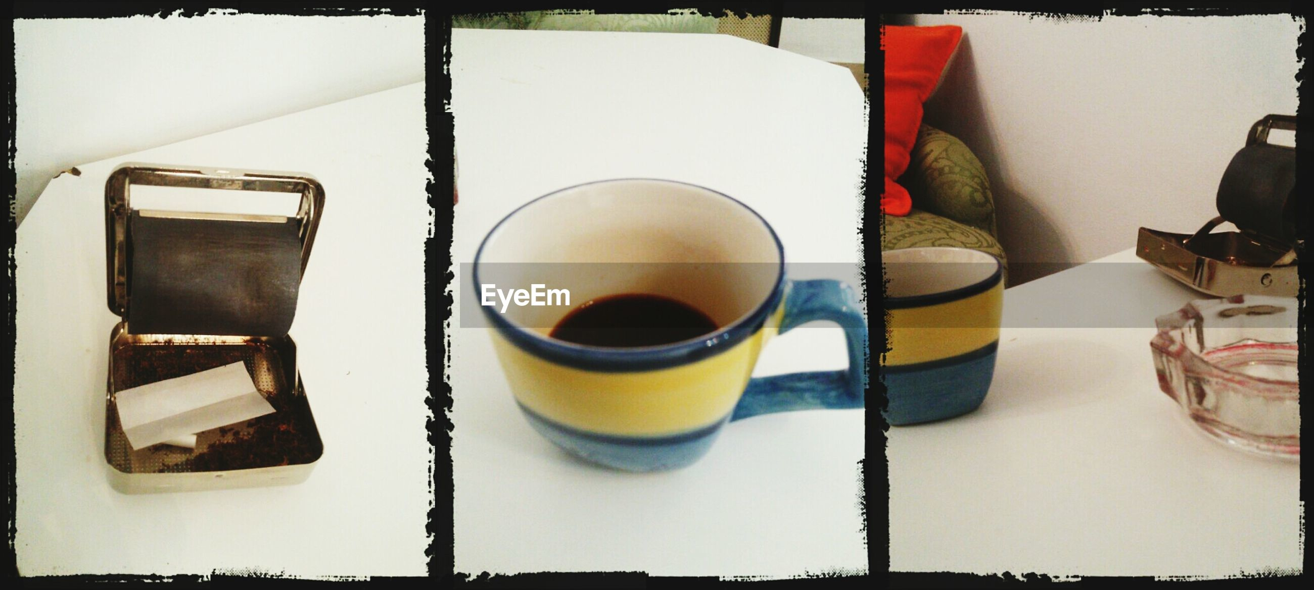 drink, coffee cup, refreshment, food and drink, coffee - drink, coffee, table, saucer, indoors, cup, freshness, still life, frothy drink, spoon, high angle view, beverage, tea, close-up, tea cup, cappuccino