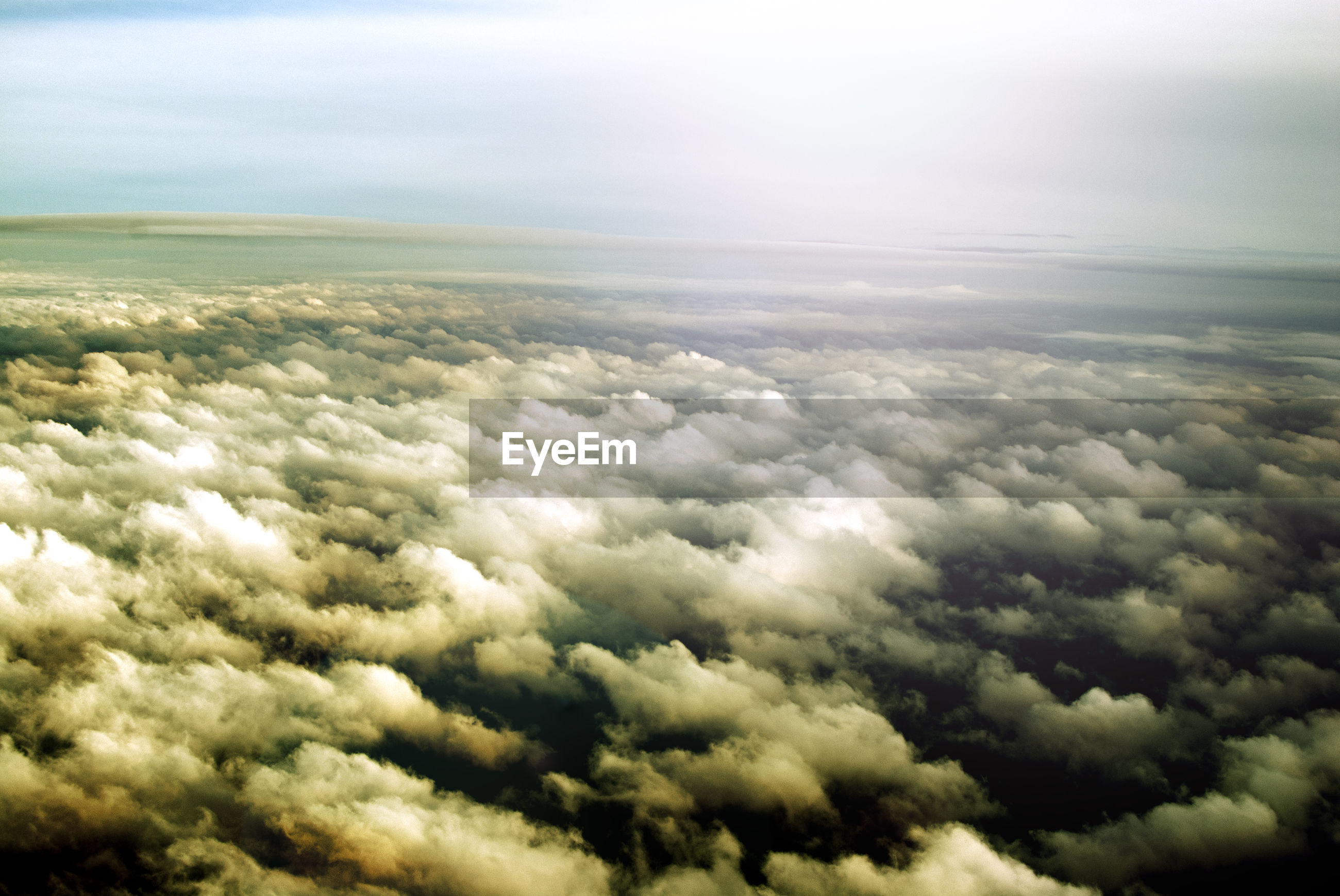 Aerial view of cloudy sky