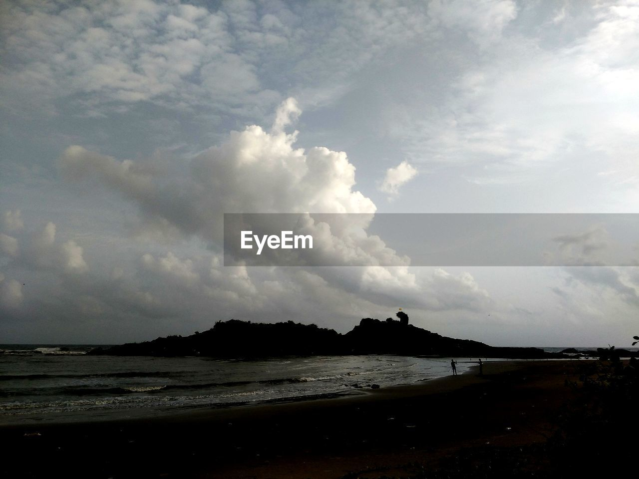 sky, cloud - sky, sea, tranquility, water, nature, silhouette, tranquil scene, scenics, outdoors, beach, beauty in nature, no people, day