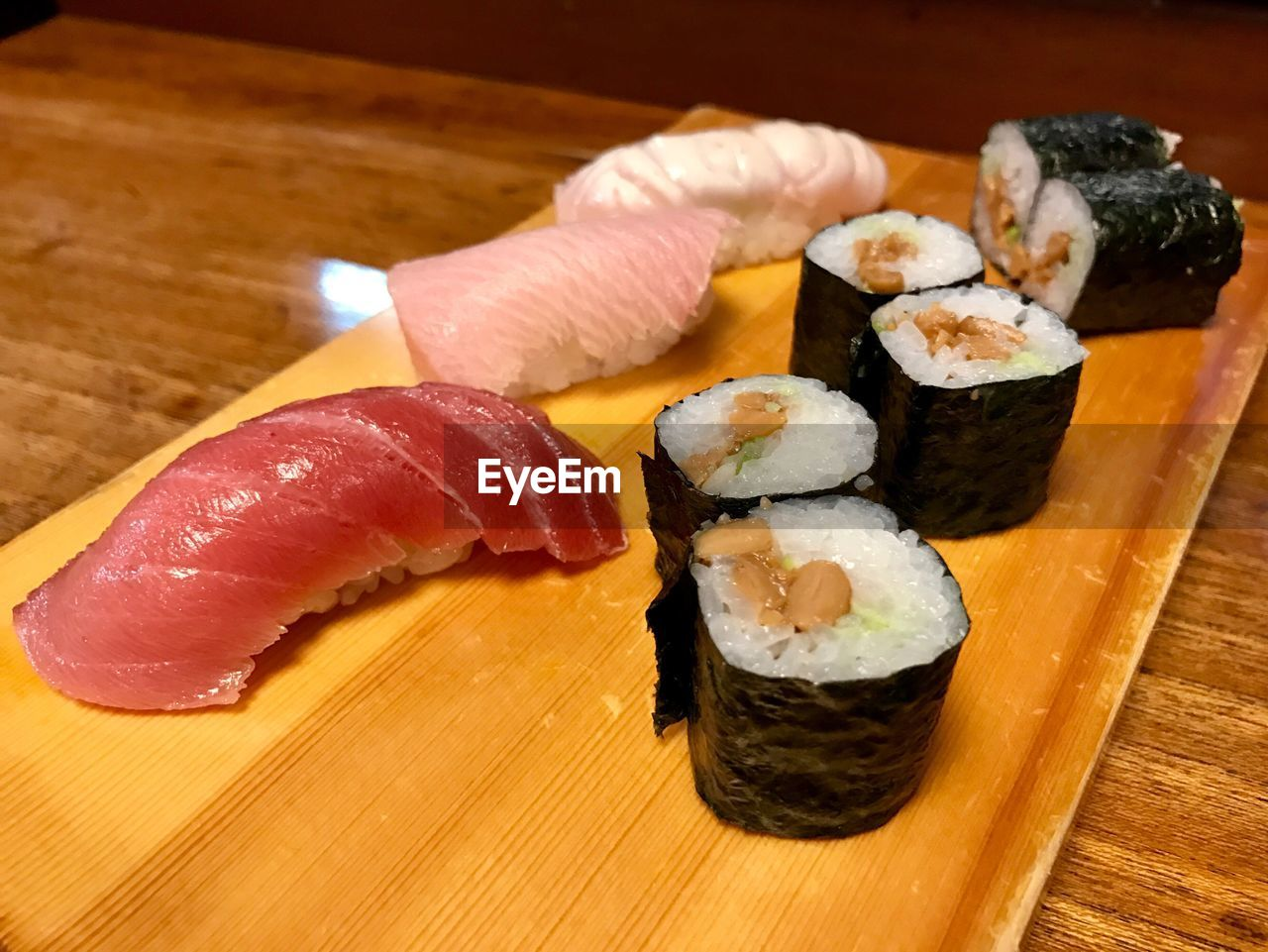 sushi, japanese food, seafood, food and drink, freshness, food, ready-to-eat, rolled up, still life, rice - food staple, salmon, serving size, indoors, fish, no people, healthy eating, plate, sashimi, ginger, close-up, day