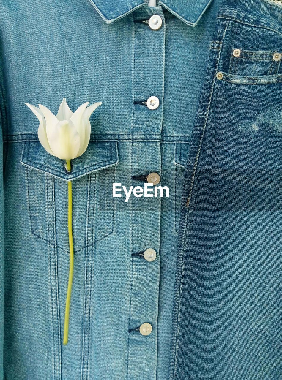 Close-Up Of Denim Clothes