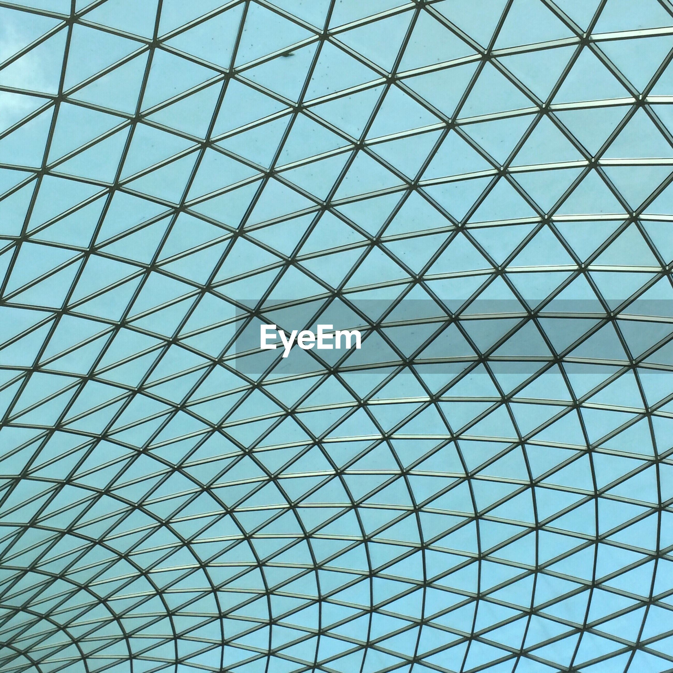 full frame, backgrounds, low angle view, pattern, built structure, architecture, indoors, architectural feature, no people, modern, day, textured, sky, futuristic