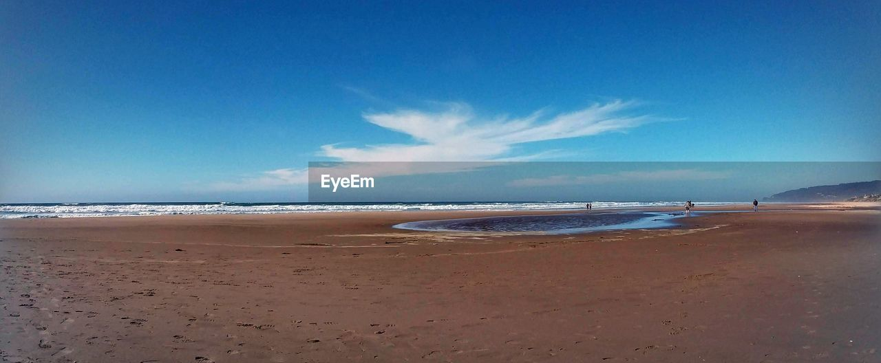 sea, sky, beach, water, land, beauty in nature, sand, scenics - nature, tranquility, tranquil scene, horizon, horizon over water, cloud - sky, blue, nature, day, no people, outdoors, motion
