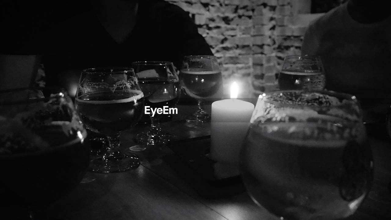 candle, flame, table, indoors, burning, heat - temperature, selective focus, no people, close-up, illuminated, night