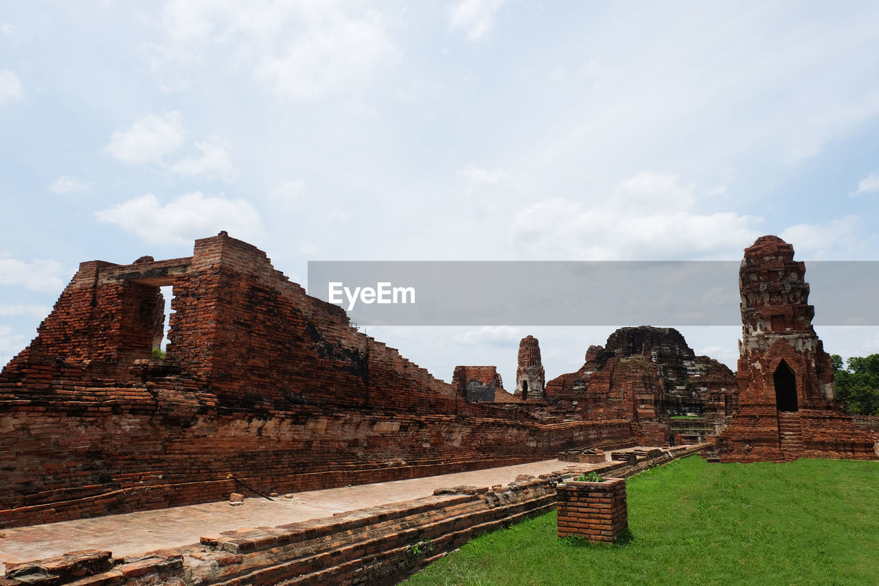 history, the past, sky, built structure, architecture, ancient, travel destinations, cloud - sky, building exterior, travel, old, tourism, ancient civilization, old ruin, day, nature, place of worship, grass, religion, no people, outdoors, ruined, archaeology