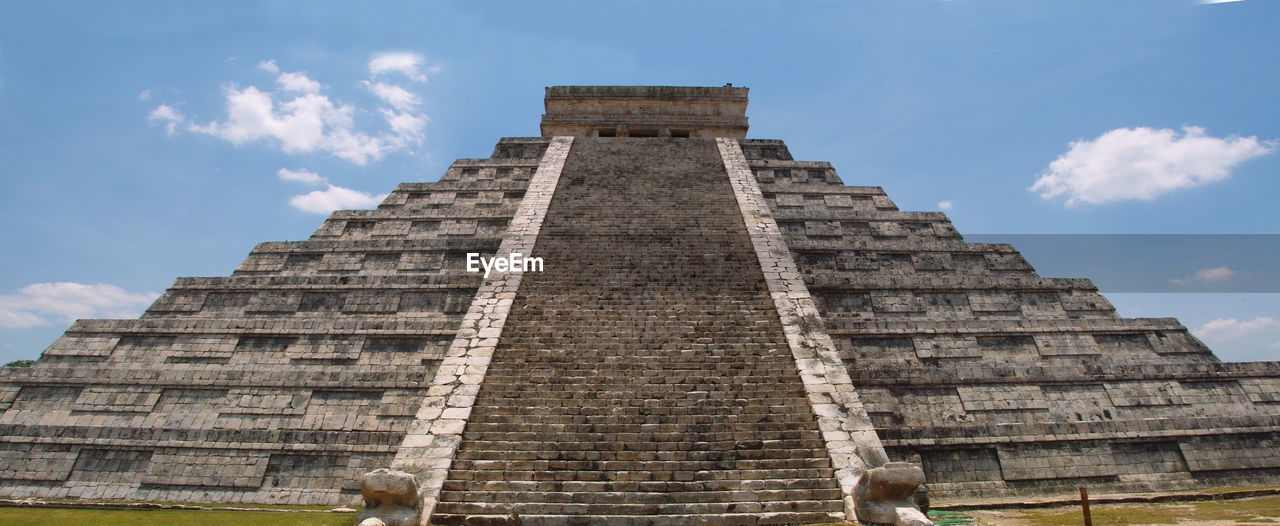 architecture, sky, the past, history, built structure, travel destinations, travel, low angle view, tourism, cloud - sky, ancient, building exterior, ancient civilization, nature, day, pyramid, place of worship, memorial, monument, archaeology, ancient history
