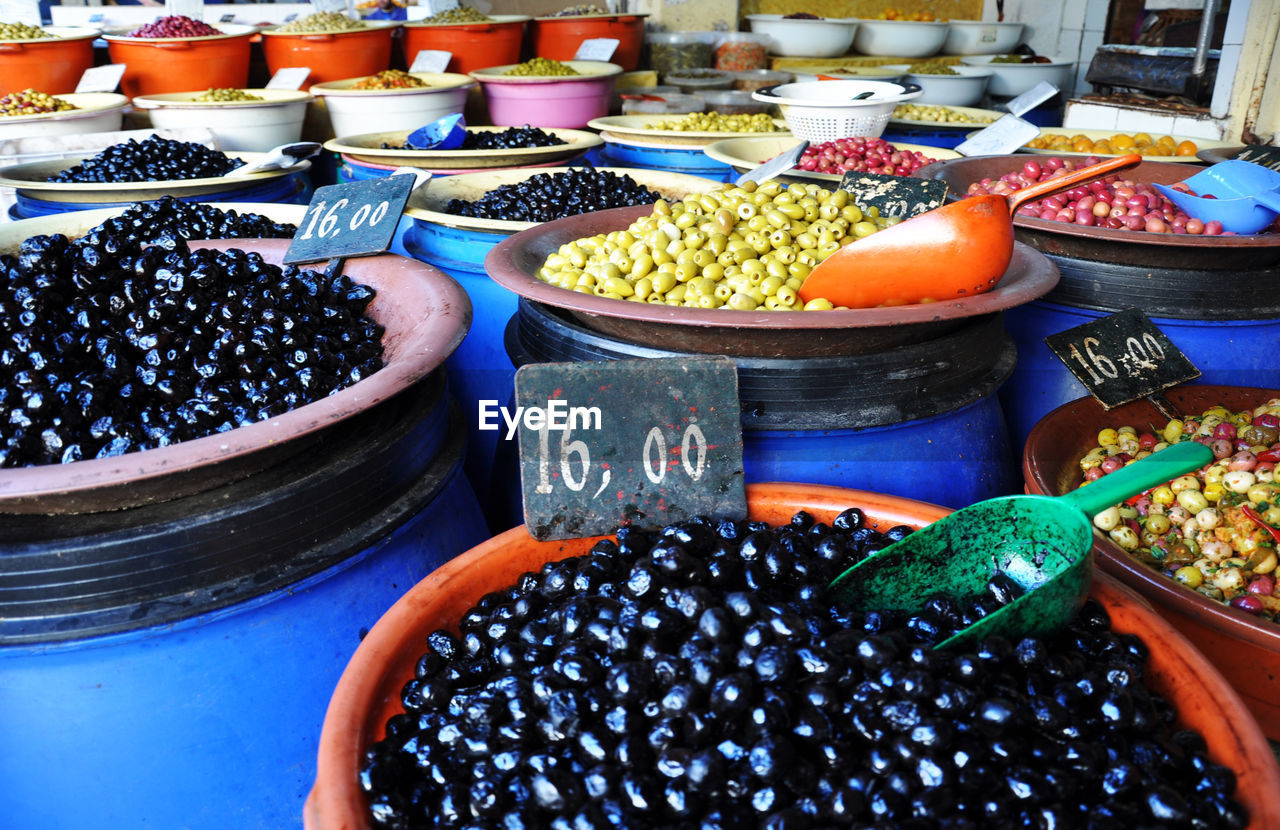 Close-up of fruits for sale in market