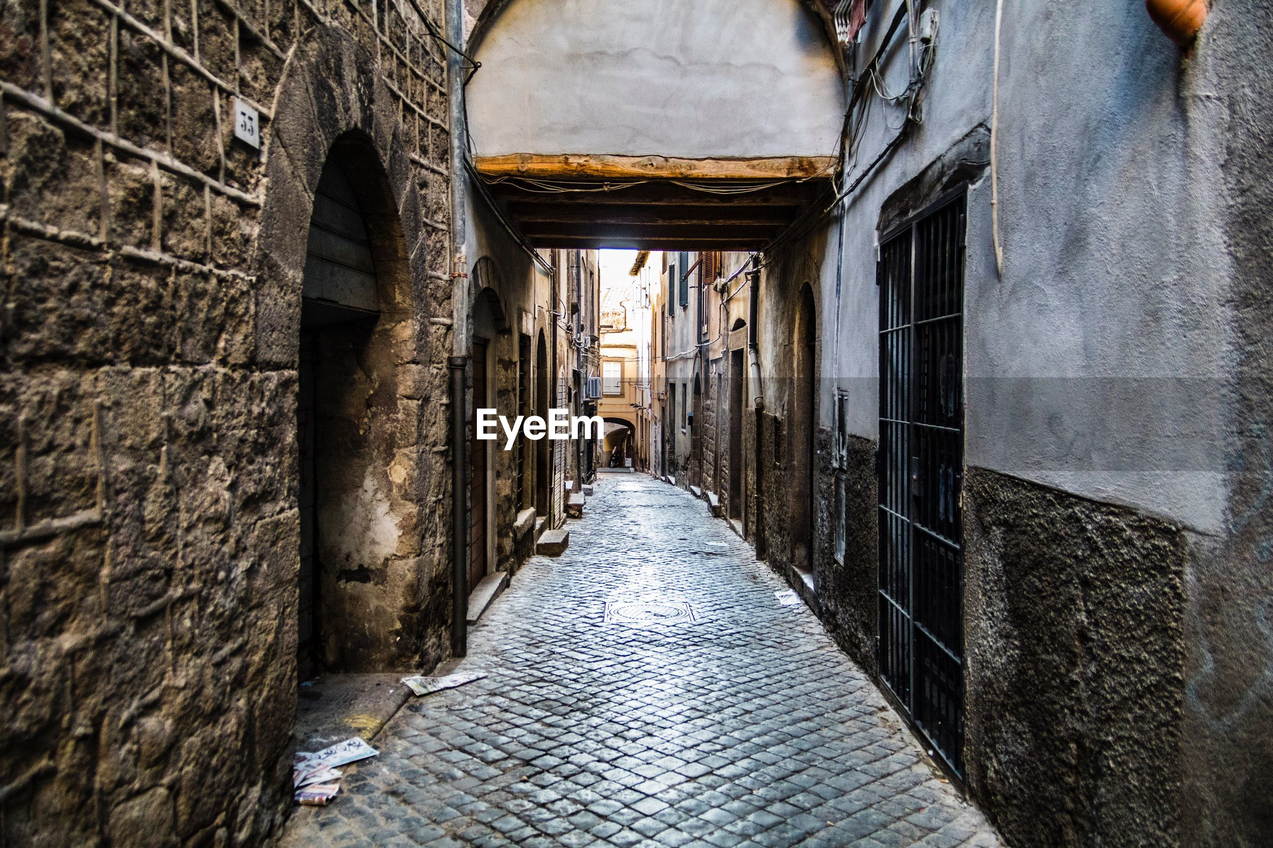 NARROW STREET AMIDST OLD BUILDING