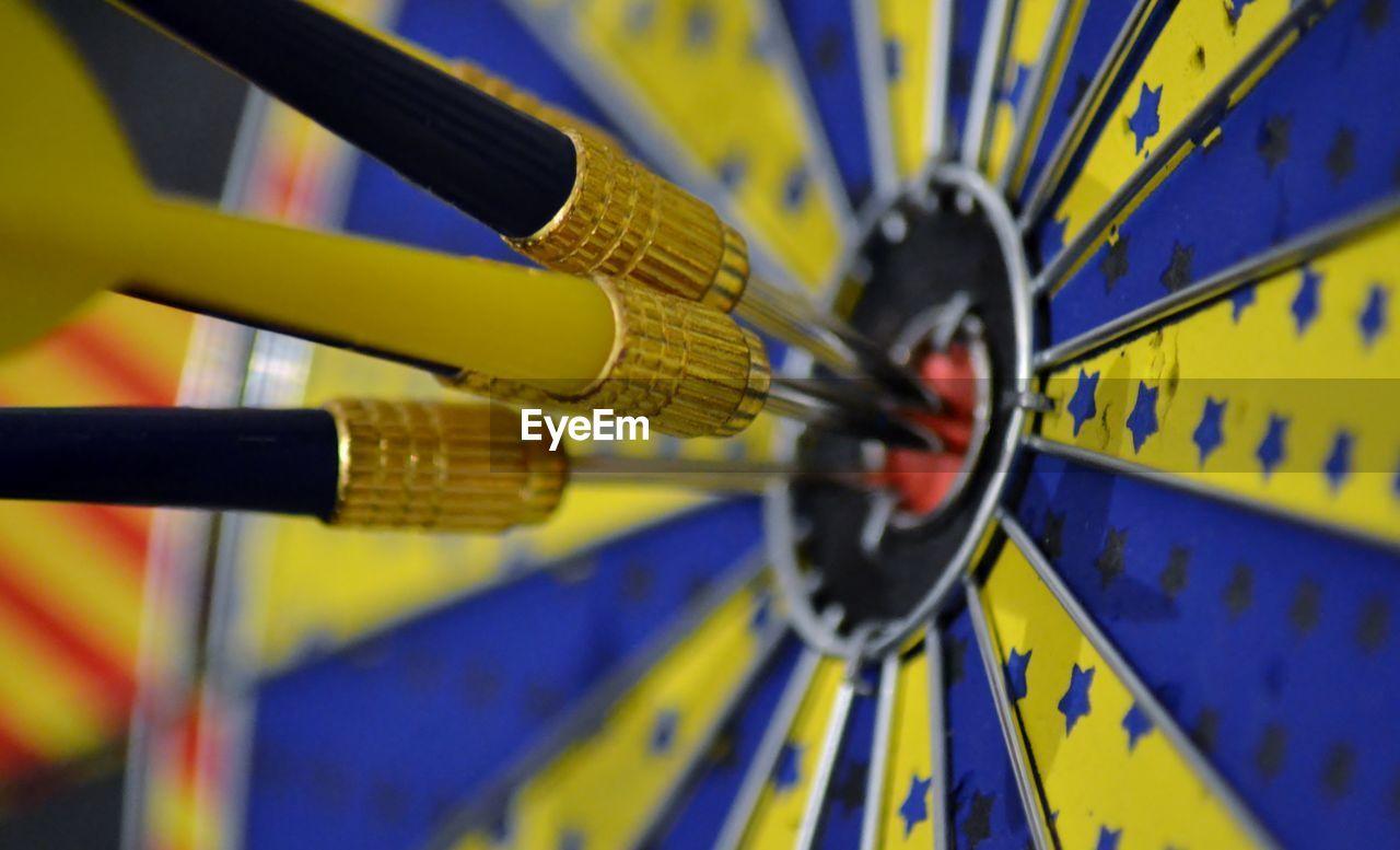 Close-Up Of Bulls-Eye Dartboard