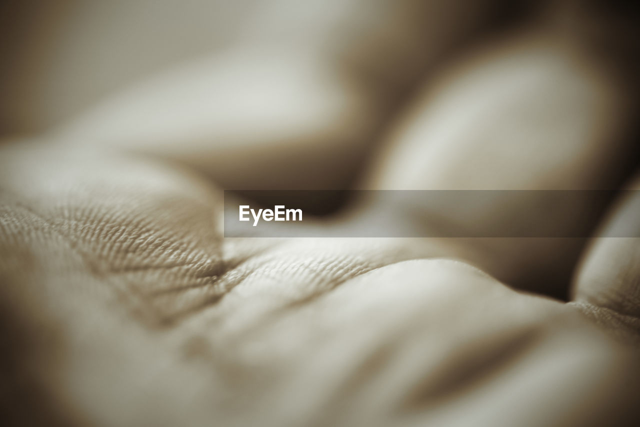 selective focus, indoors, close-up, full frame, backgrounds, textile, no people, bed, day