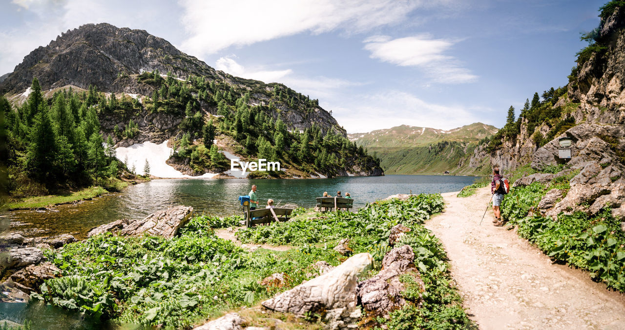 Idyllic view of tappenkarsee mountains