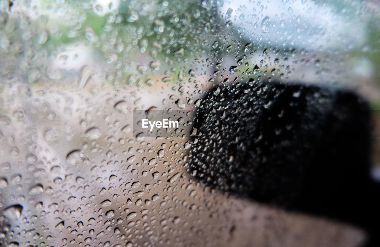 wet, drop, window, water, transparent, rain, glass - material, indoors, rainy season, raindrop, close-up, motor vehicle, car, nature, mode of transportation, land vehicle, vehicle interior, no people