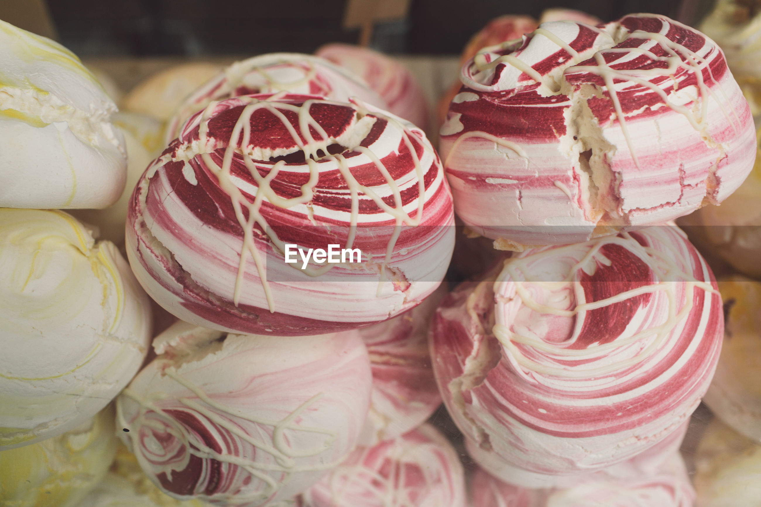 Close-up of dessert for sale in shop
