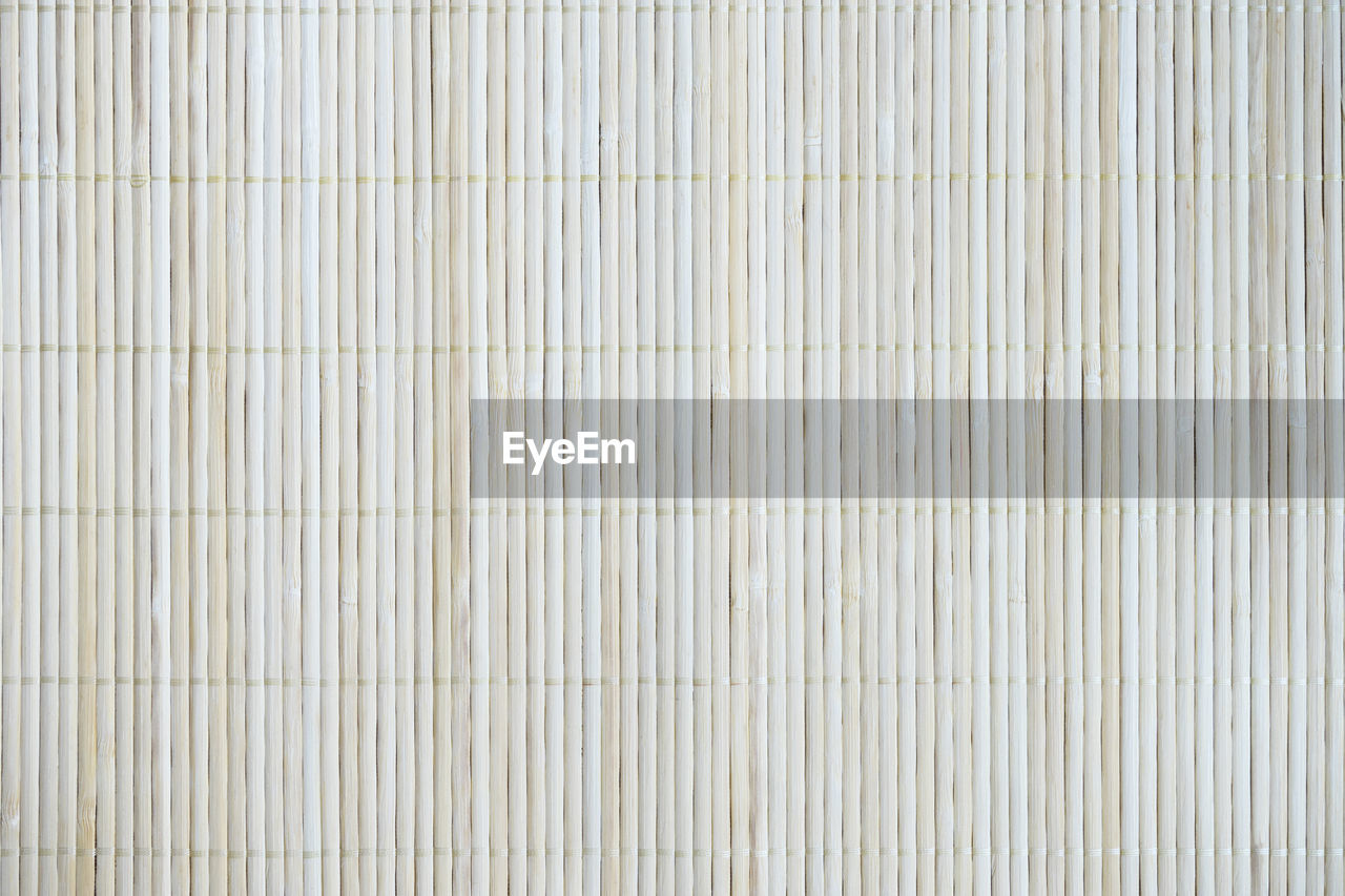 backgrounds, full frame, close-up, textured, bamboo - material, pattern, white color, no people, indoors, simplicity, studio shot, striped, copy space, textile, extreme close-up, directly above, wood - material, material, in a row, textured effect, blank, wood grain, place mat