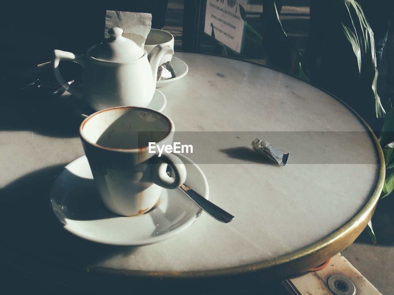 Empty Cups On Table