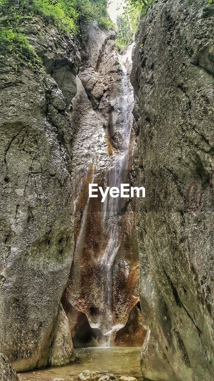 rock formation, waterfall, rock - object, nature, beauty in nature, no people, outdoors, day, scenics, water, close-up