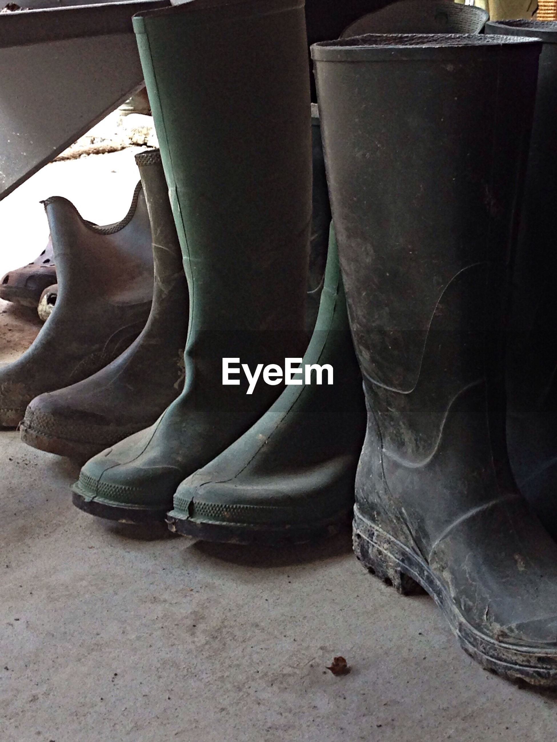 Wellingtons covered in mud