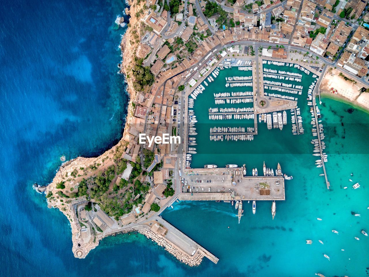Aerial View Of Port De Sóller