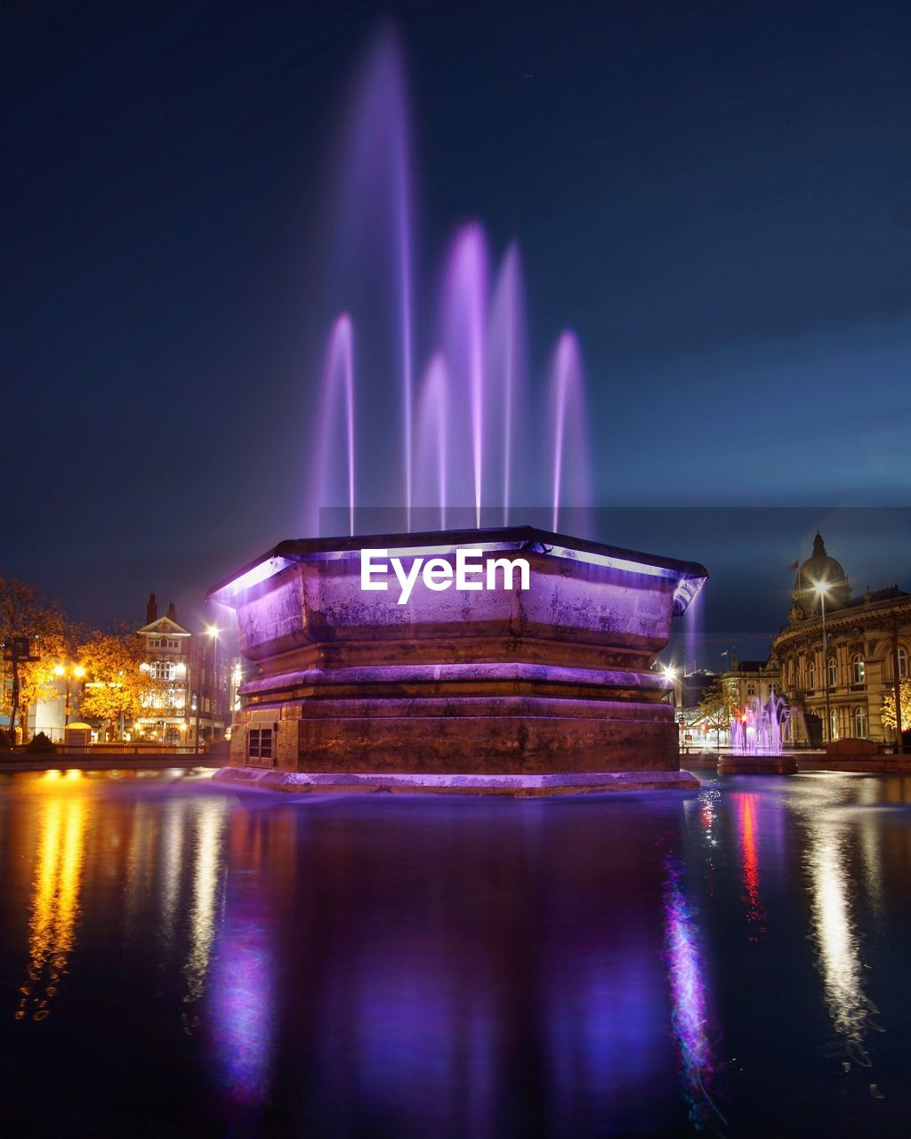illuminated, architecture, night, built structure, water, building exterior, reflection, waterfront, nature, sky, travel destinations, city, no people, building, long exposure, tourism, travel, river, purple, light