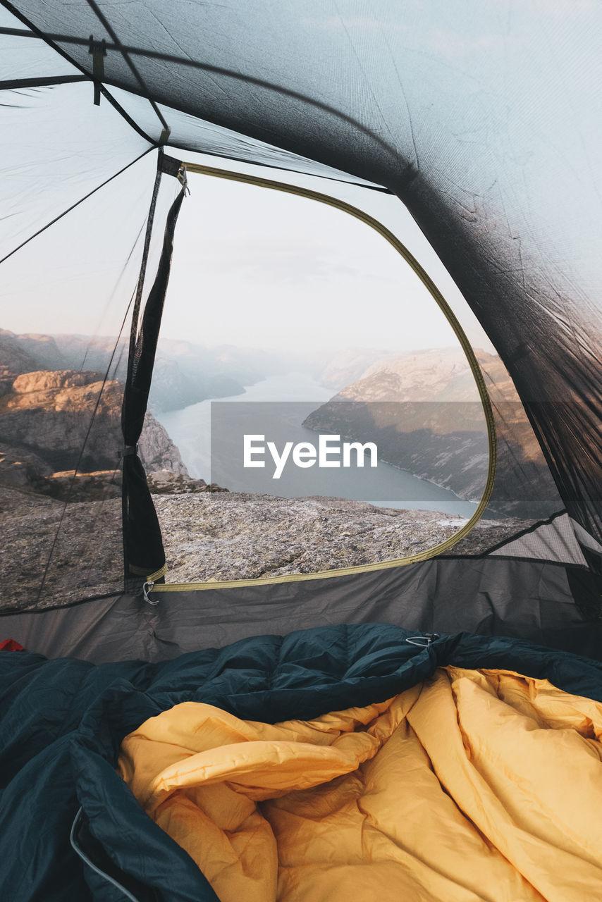 River Seen Through Tent
