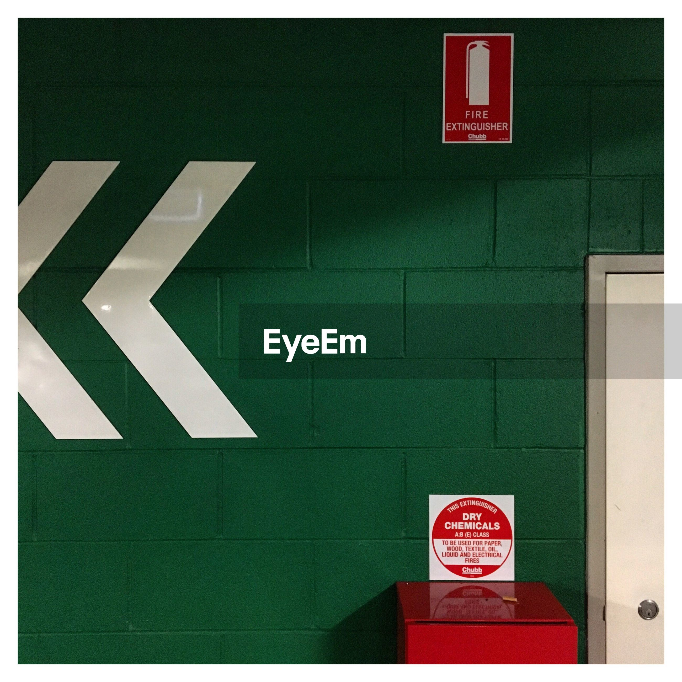communication, text, guidance, sign, information sign, road sign, no people, red, exit sign, indoors, close-up, day
