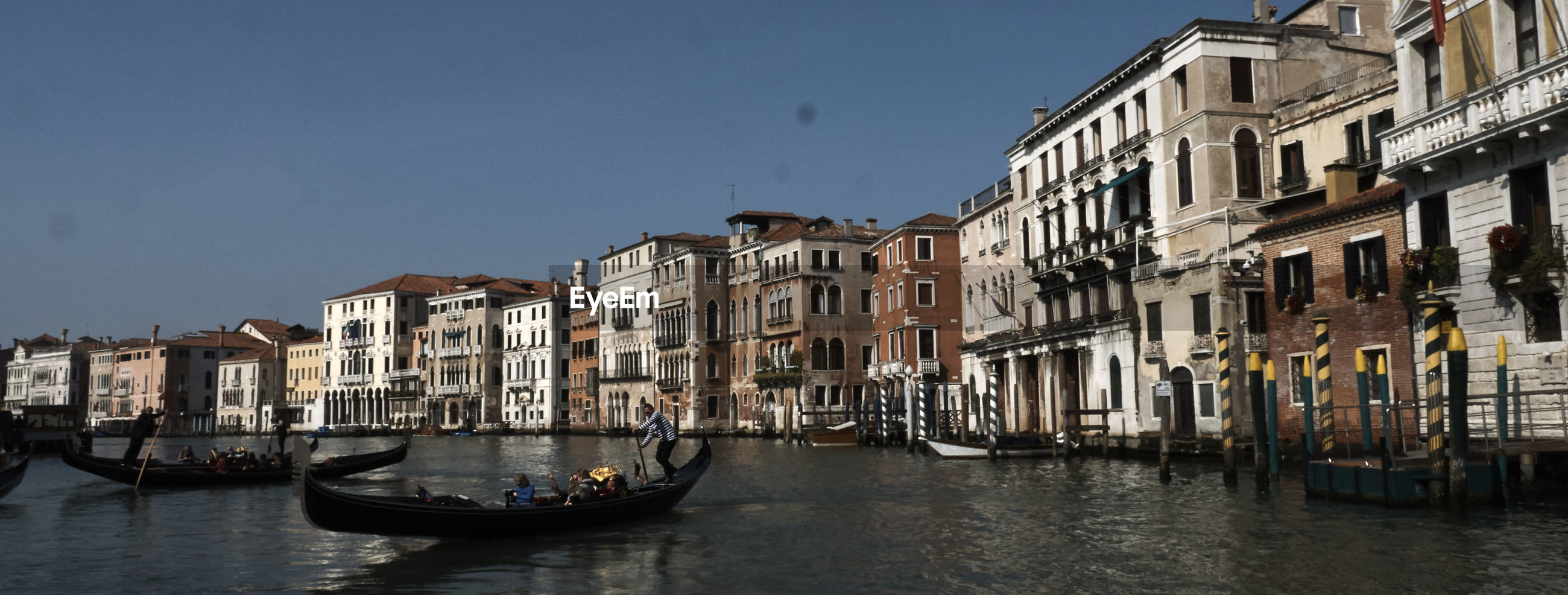 Panoramic view of venice canal