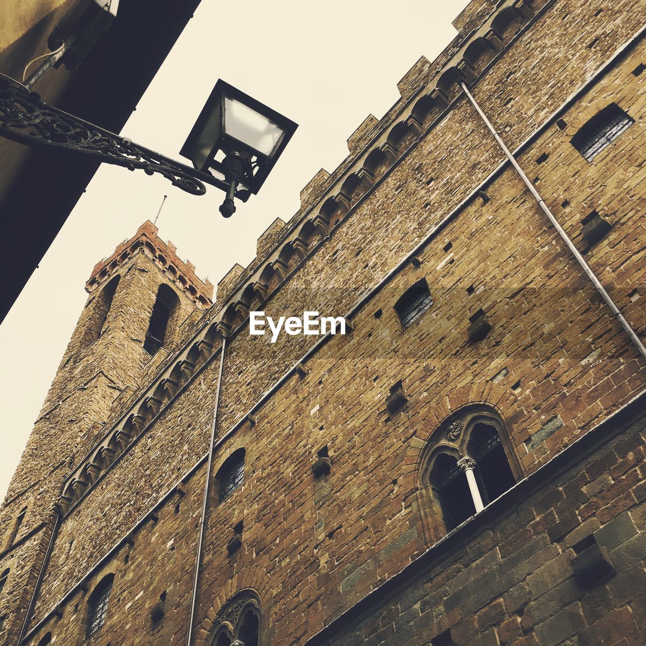 Low Angle View Of Lantern And Bargello In City