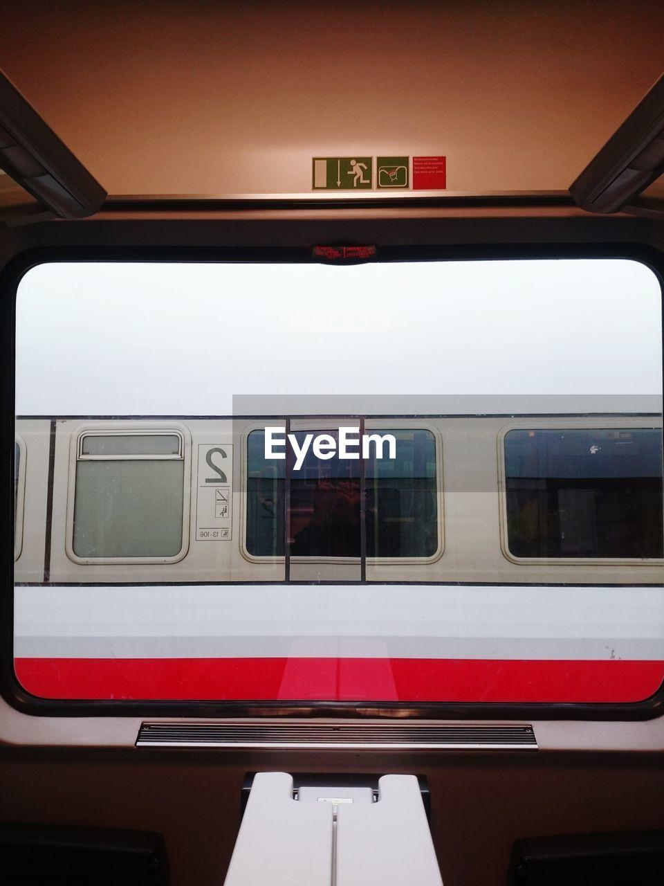 Train seen from window