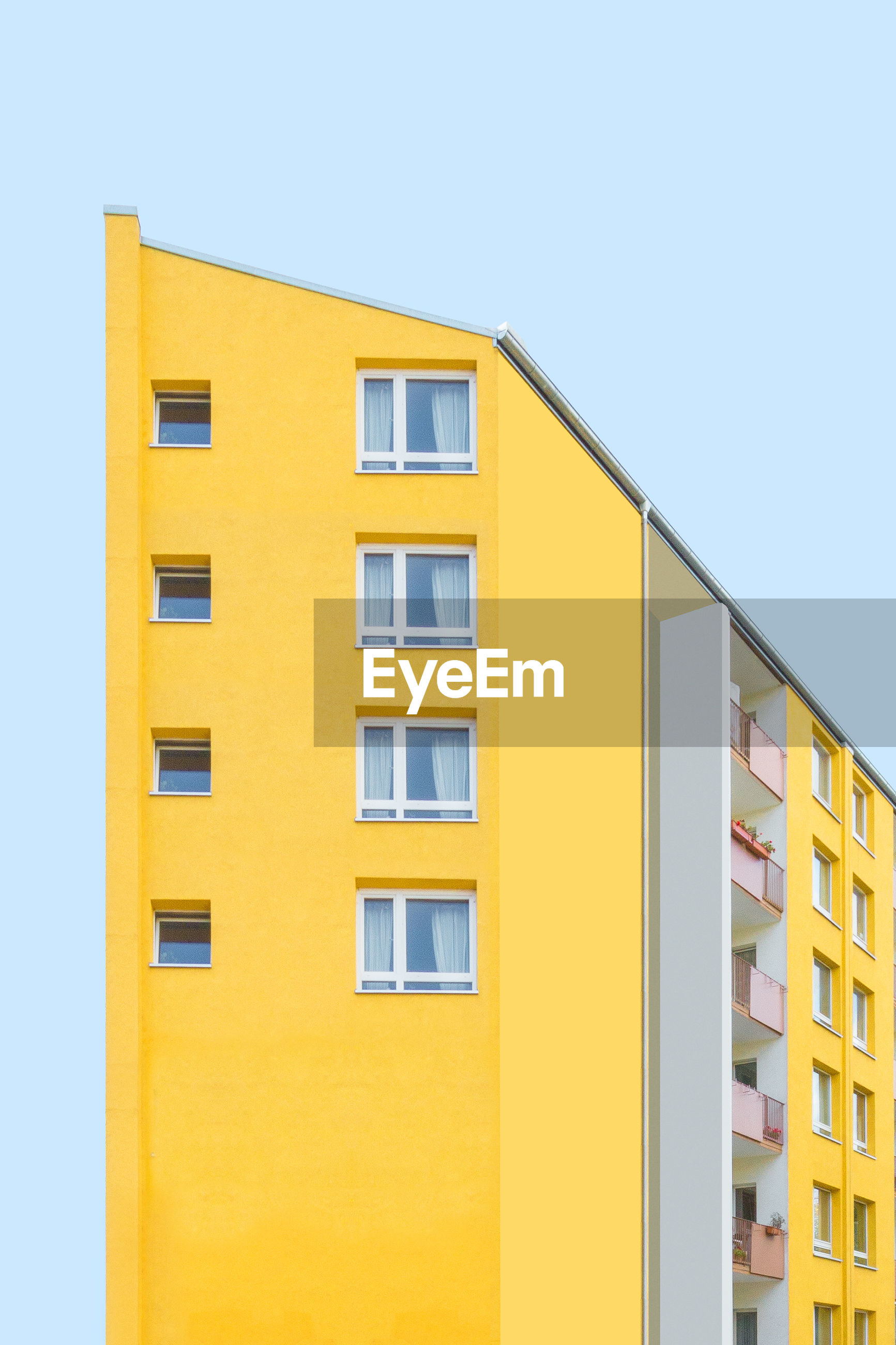 Residential building against clear sky