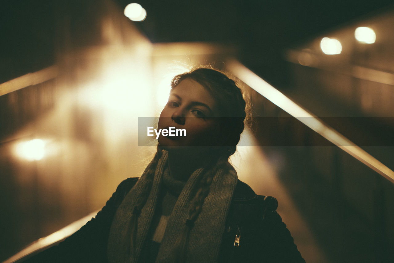 Woman At Night In City