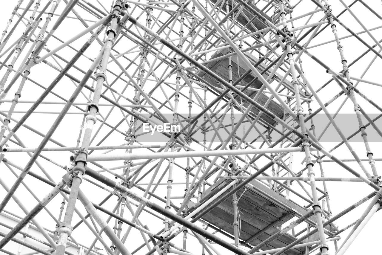 Low Angle View Of Scaffolding At Construction Site