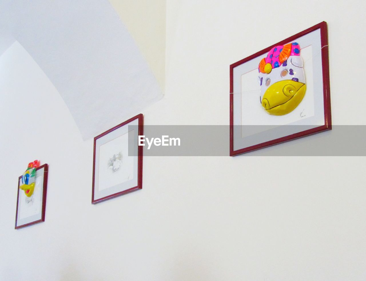 picture frame, copy space, indoors, white background, no people, photograph, paper, magnet, childhood, multi colored, day