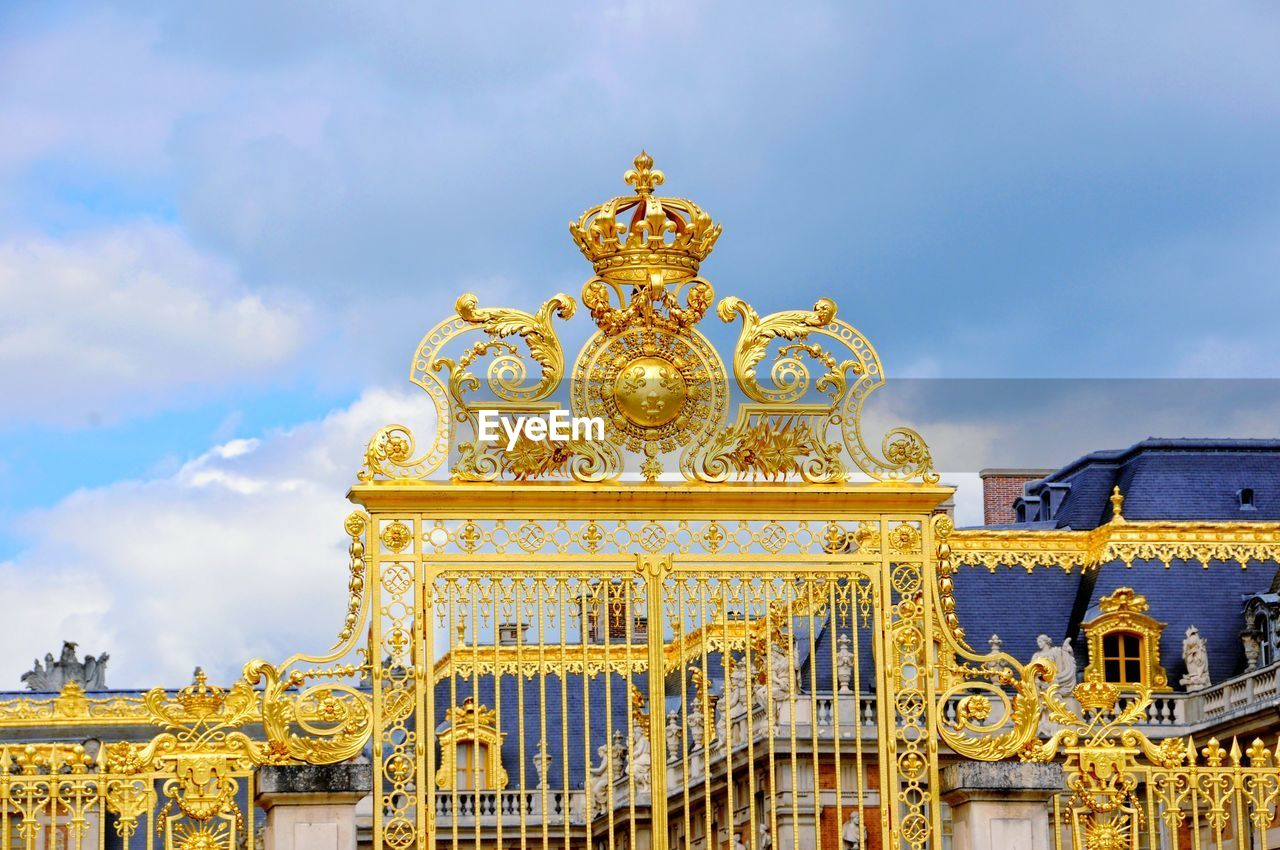 Gold Entrance Gate Of Chateau De Versailles