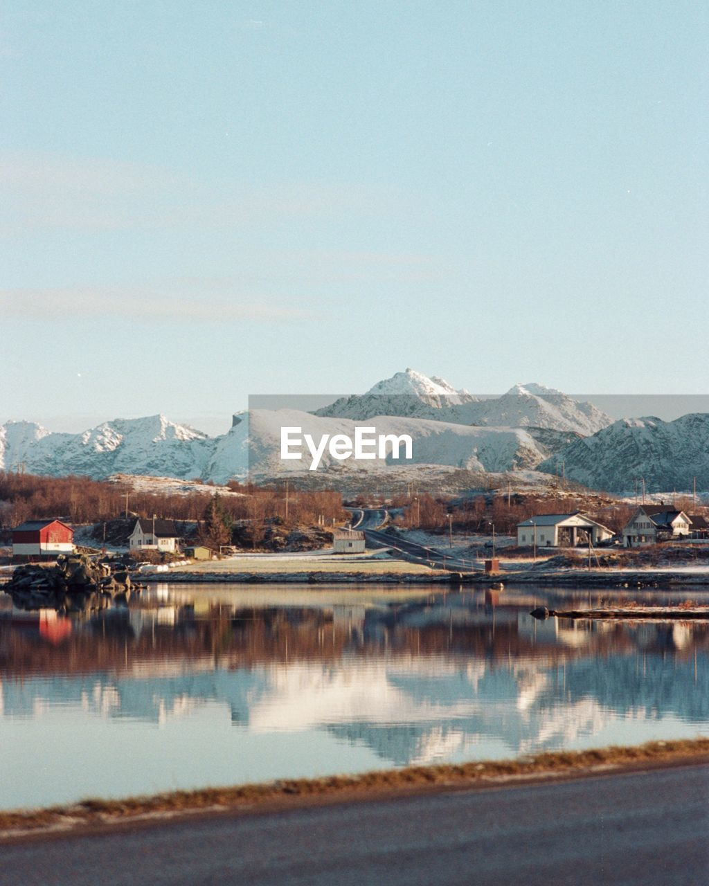 mountain, water, sky, beauty in nature, cold temperature, reflection, snow, landscape, lake, waterfront, scenics - nature, environment, nature, winter, tranquil scene, tranquility, day, mountain range, no people, outdoors, snowcapped mountain, lagoon, mountain peak
