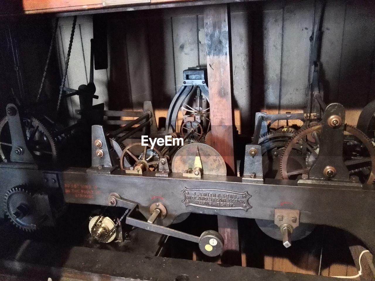 metal, rusty, machinery, indoors, variation, no people, workshop, day