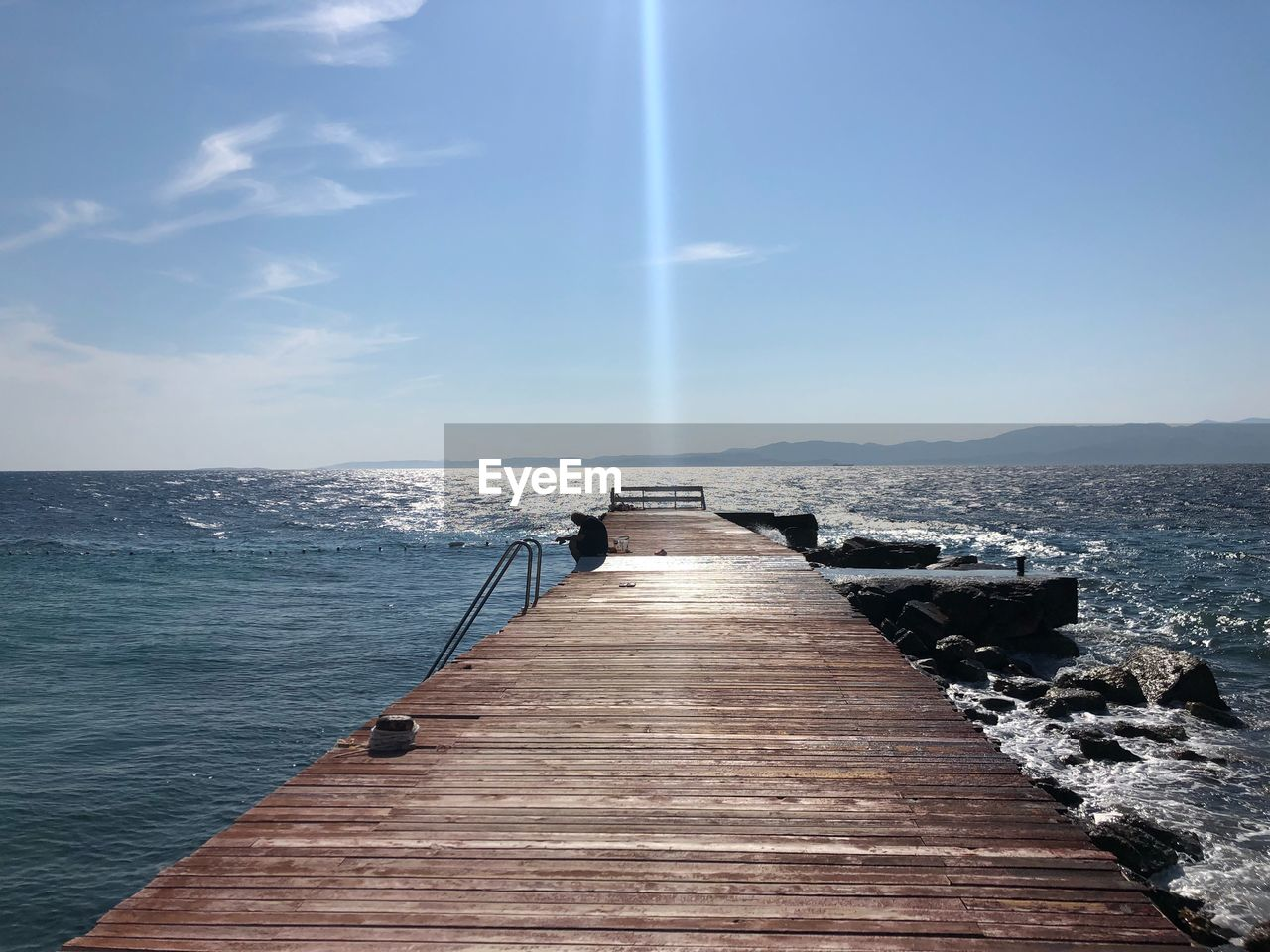 sky, sea, water, the way forward, direction, scenics - nature, nature, horizon, horizon over water, pier, beauty in nature, tranquil scene, day, no people, wood - material, tranquility, cloud - sky, idyllic, architecture, outdoors, diminishing perspective, long