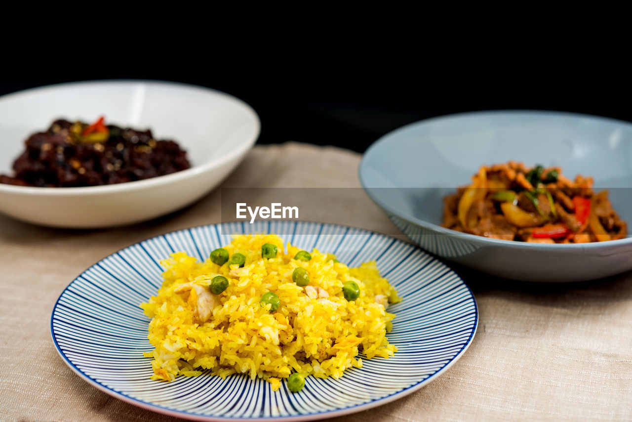plate, food and drink, food, ready-to-eat, table, indoors, freshness, focus on foreground, serving size, indulgence, no people, close-up, bowl, healthy eating, day